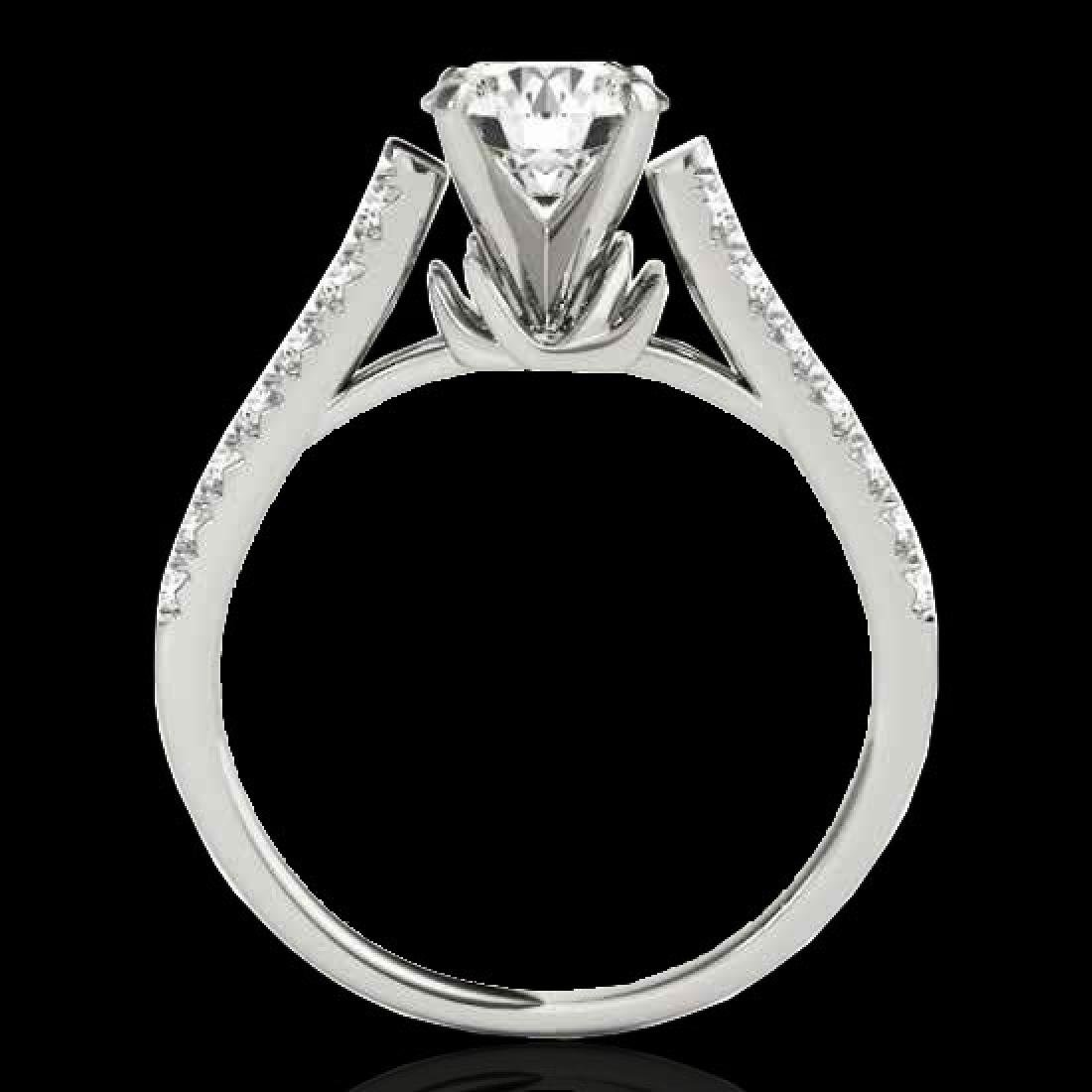 1.46 CTW H-SI/I Certified Diamond Solitaire Ring 10K - 2