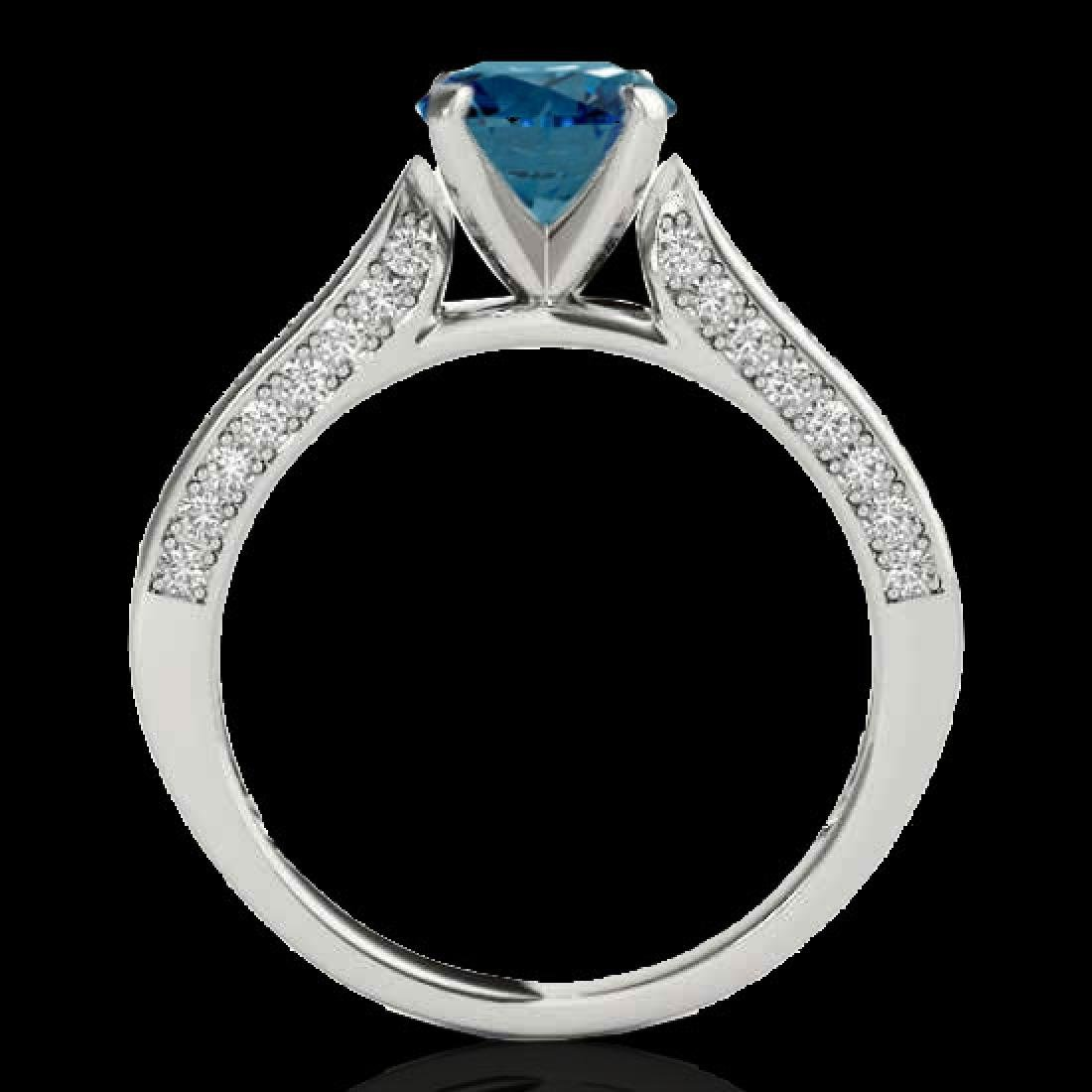 1.6 CTW SI Certified Fancy Blue Diamond Solitaire Ring - 2
