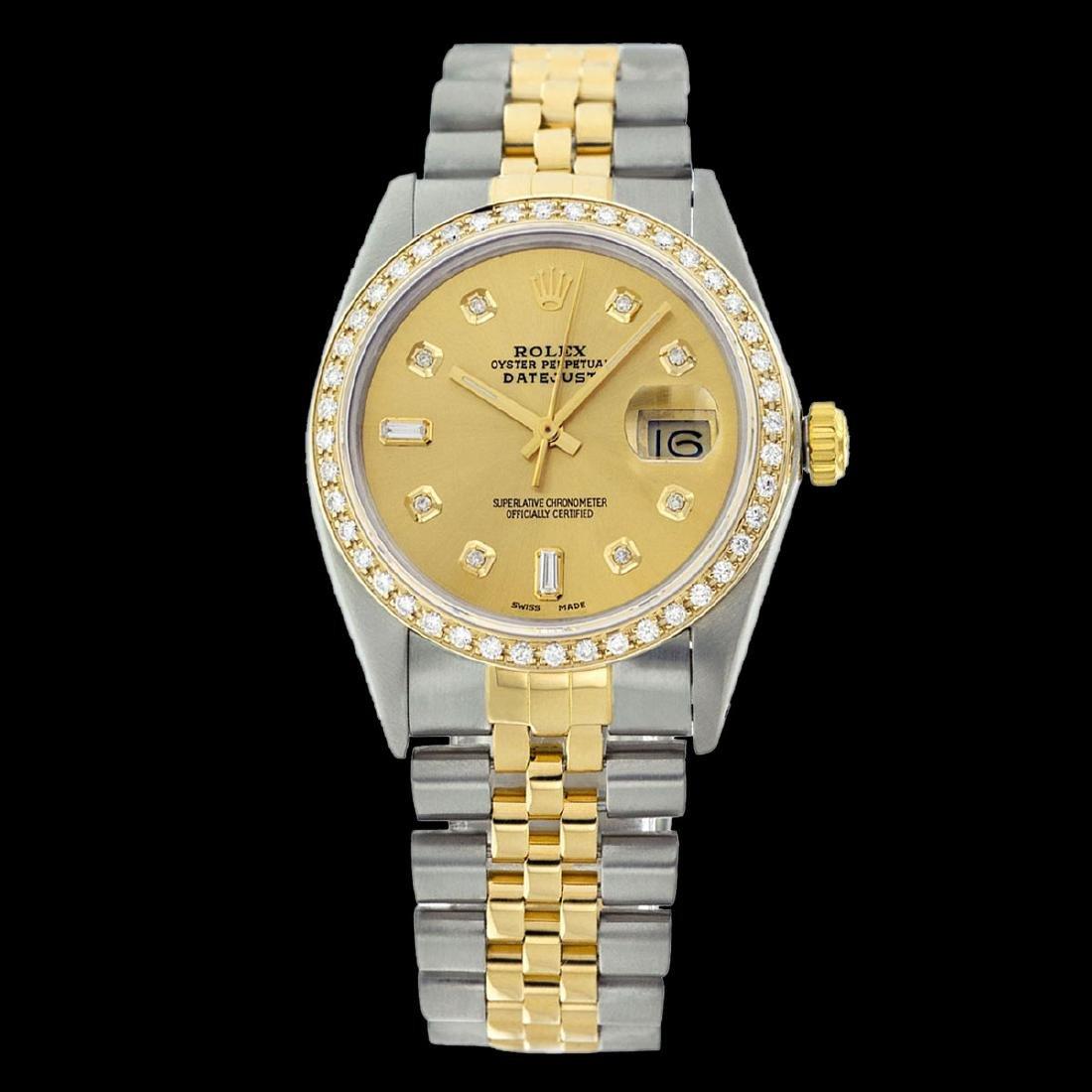 Rolex Ladies Two Tone 14K Gold/ss, Diamond Dial & - 2