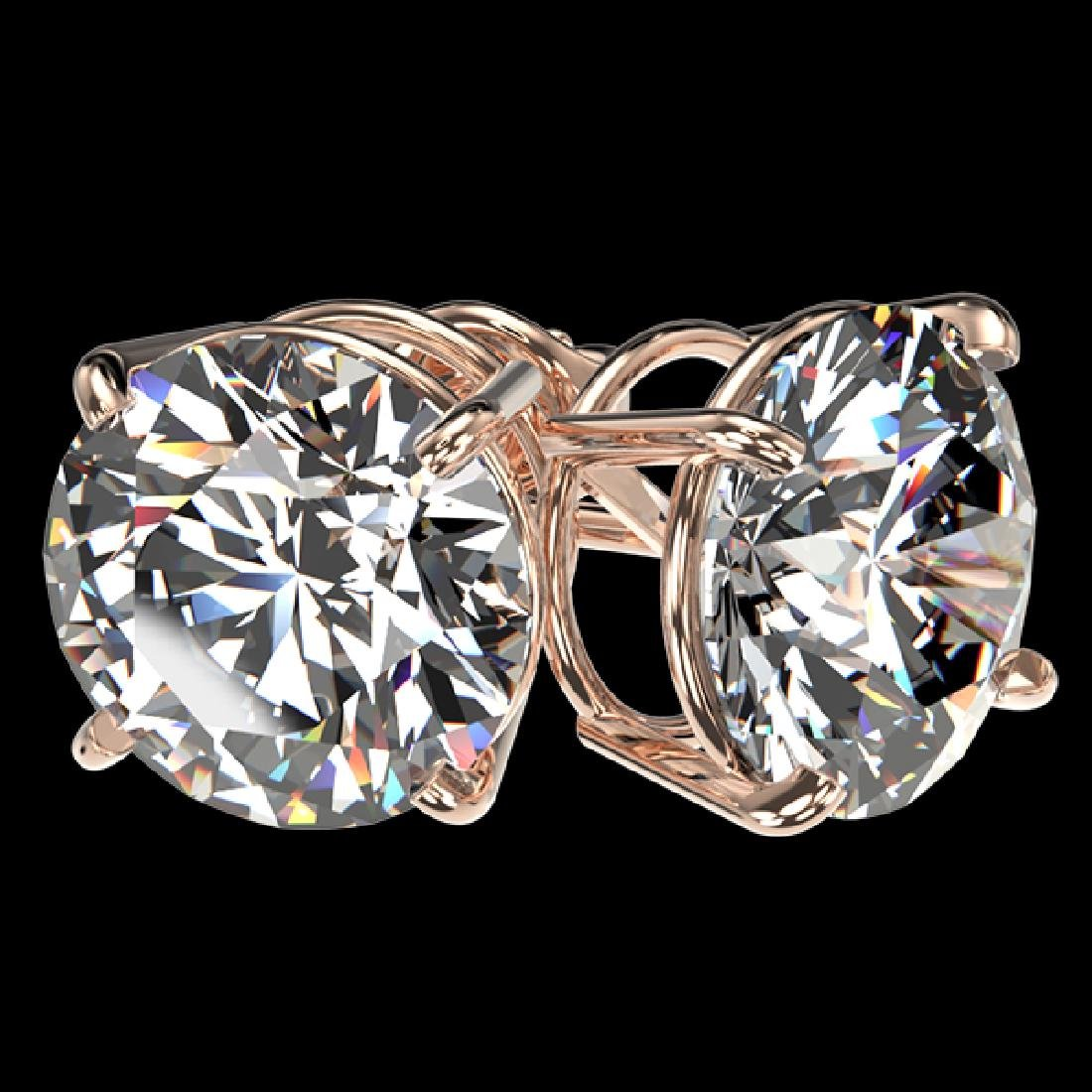 4.04 CTW Certified H-I Quality Diamond Solitaire Stud - 3
