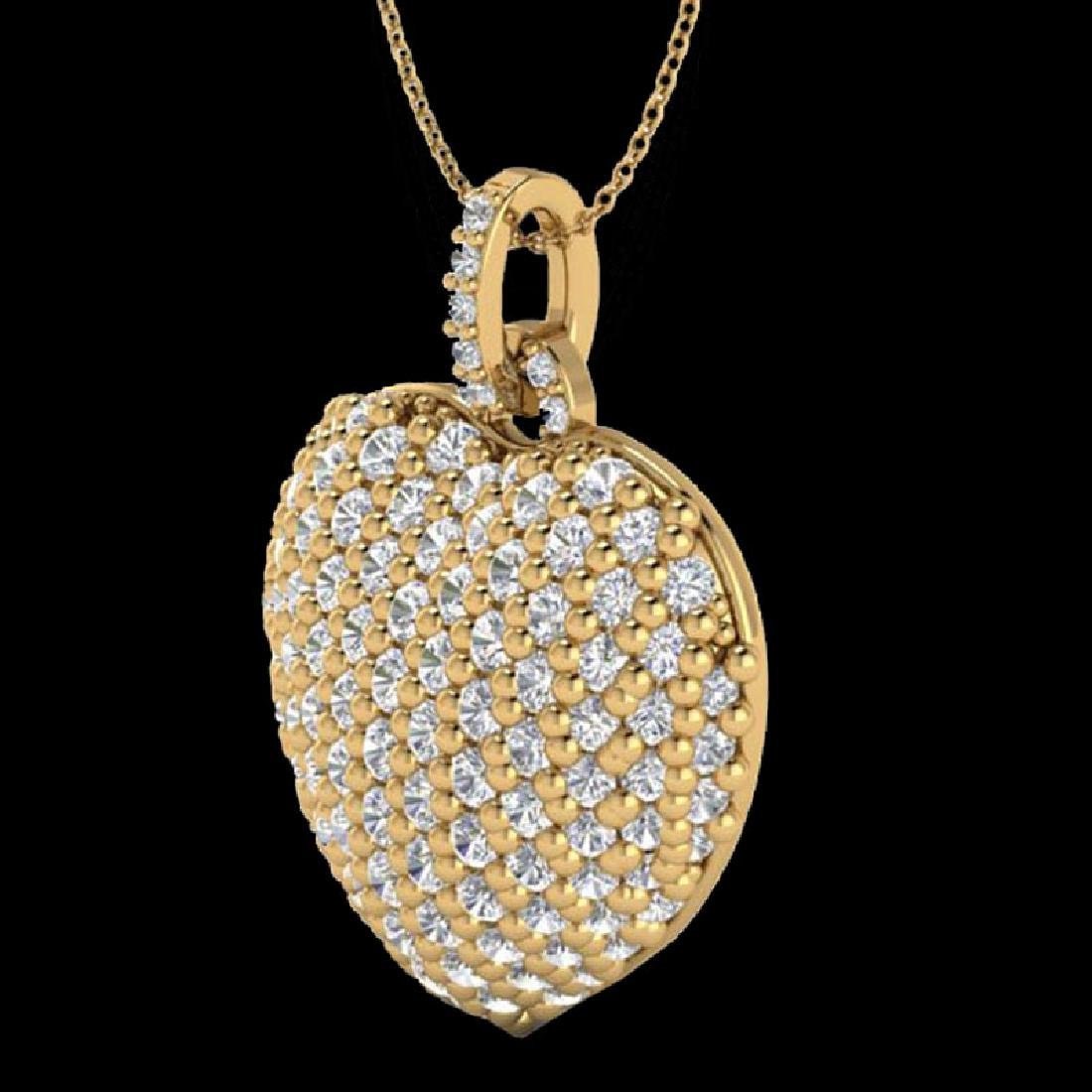 3 CTW Micro Pave VS/SI Diamond Designer Heart Necklace - 2