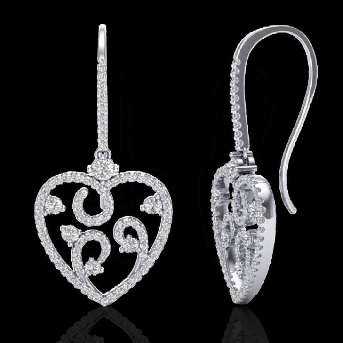 2.50 CTW VS/SI Diamond Micro Pave Designer Earrings 14K - 2