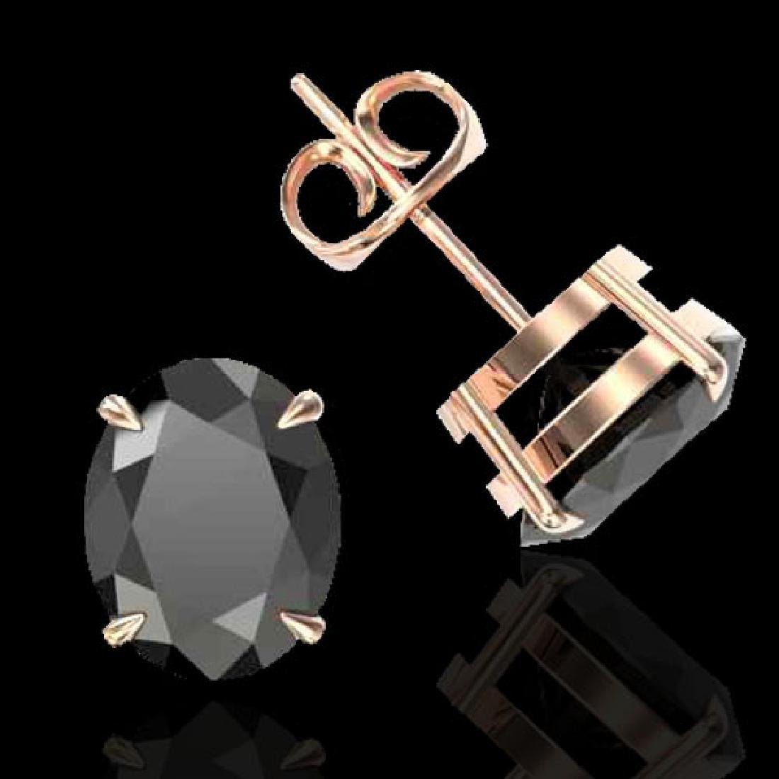 10 CTW Black VS/SI Diamond Designer Solitaire Stud - 2