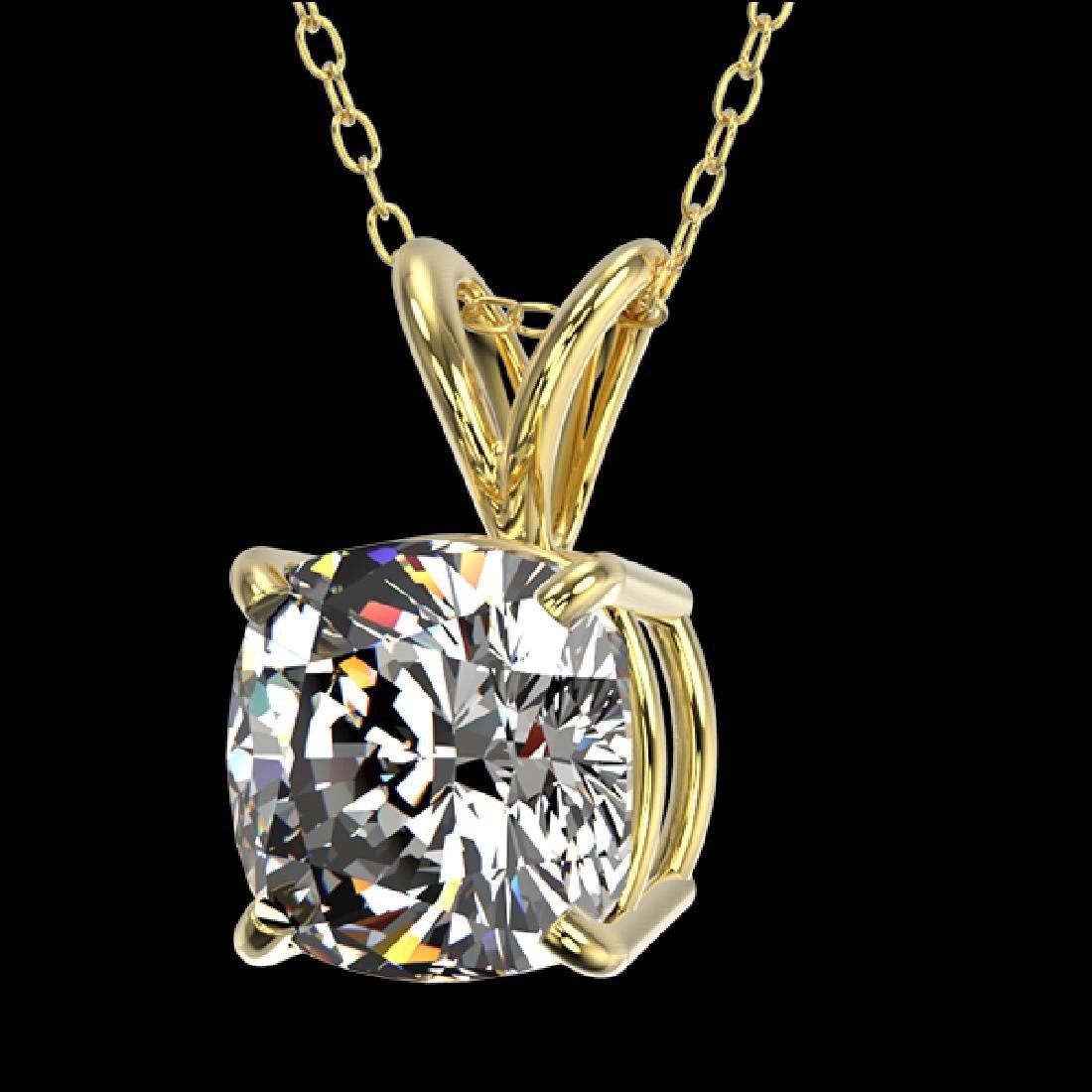 1.25 CTW Certified VS/SI Quality Cushion Cut Diamond - 2