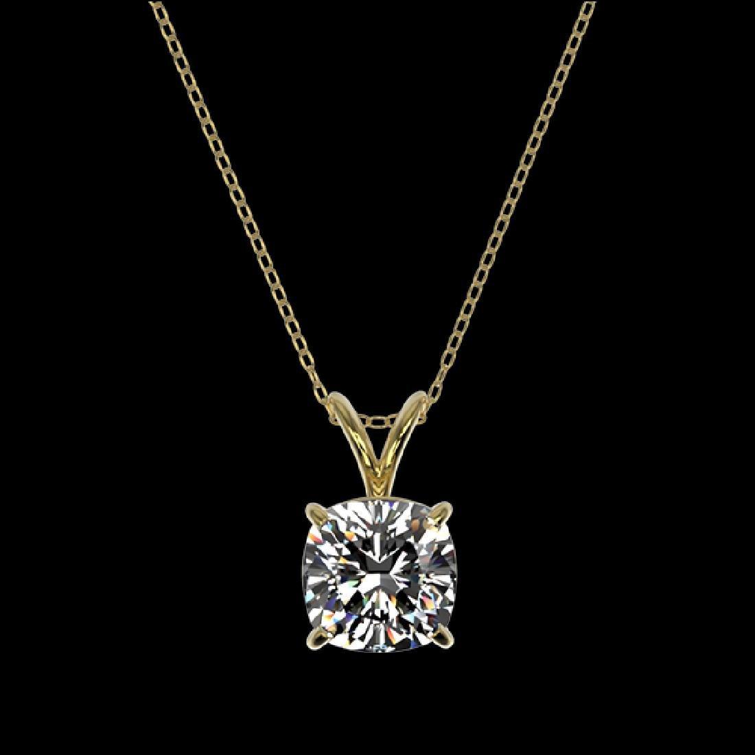1.25 CTW Certified VS/SI Quality Cushion Cut Diamond - 3