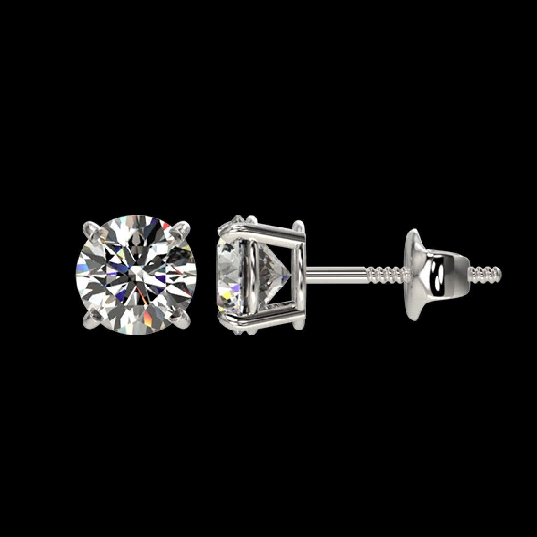 1.04 CTW Certified H-SI/I Quality Diamond Solitaire - 2