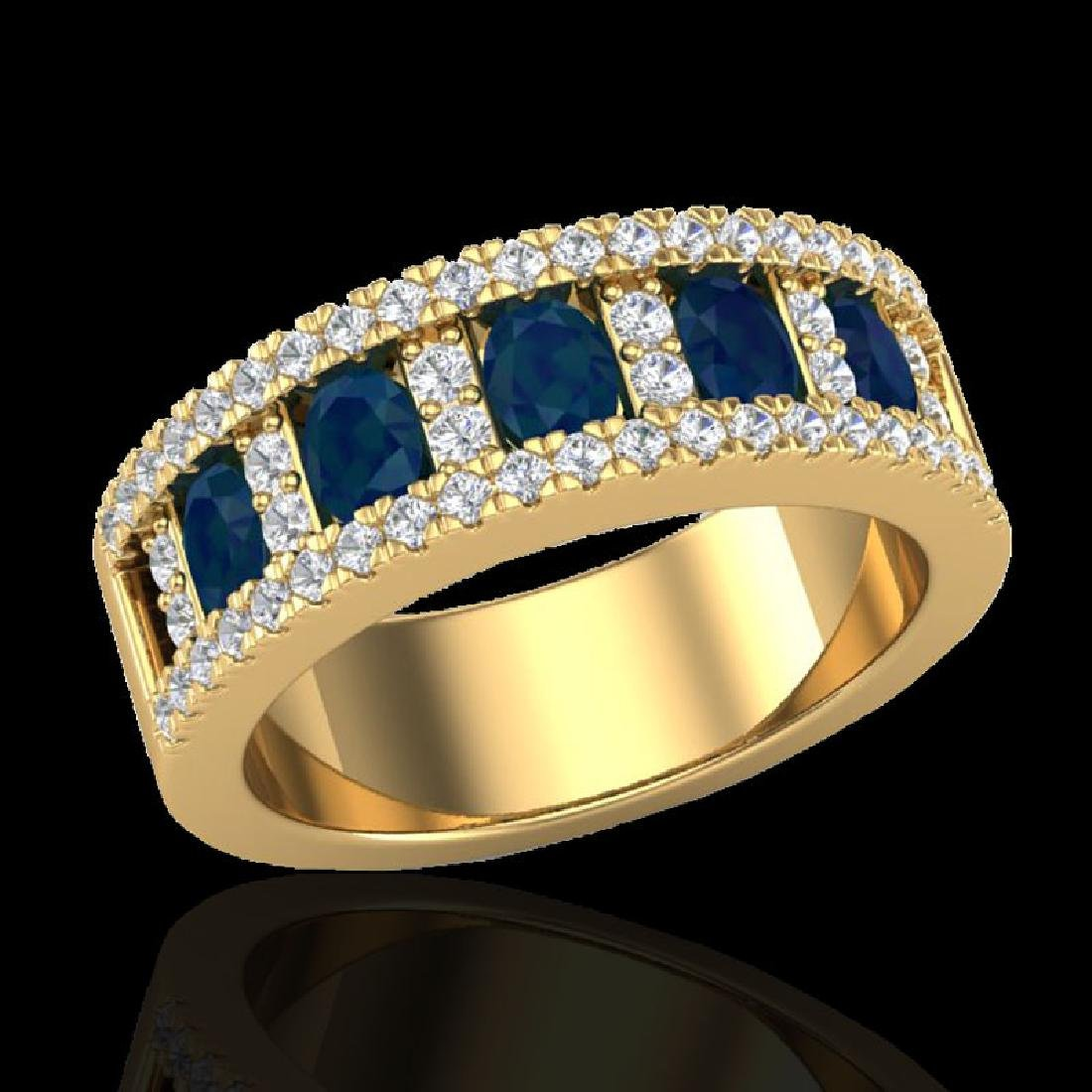 2.34 CTW Sapphire & Micro Pave VS/SI Diamond Inspired - 2