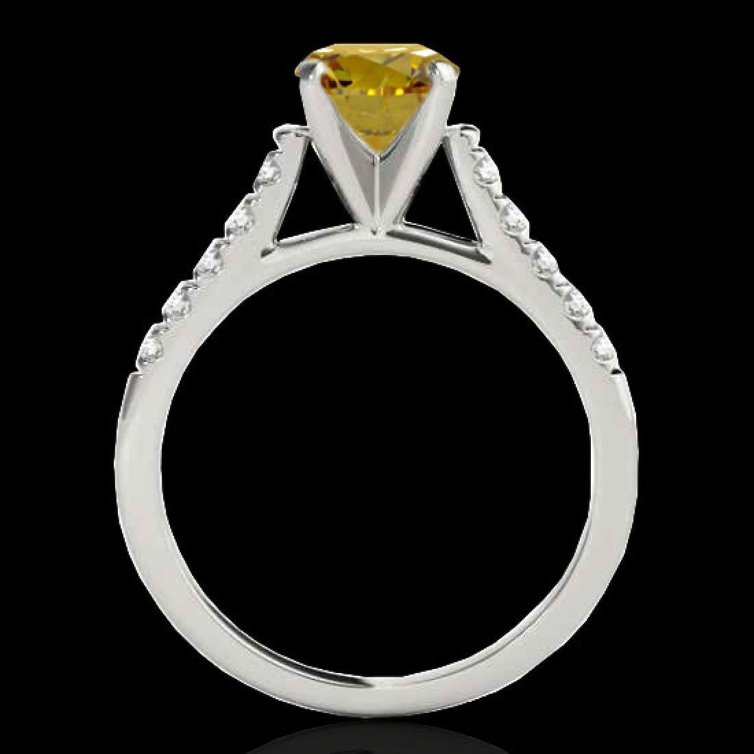 1.45 CTW Certified SI/I Fancy Intense Yellow Diamond - 2