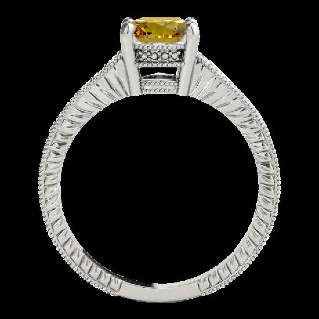 1.45 CTW Certified Si Intense Yellow Diamond Solitaire - 2