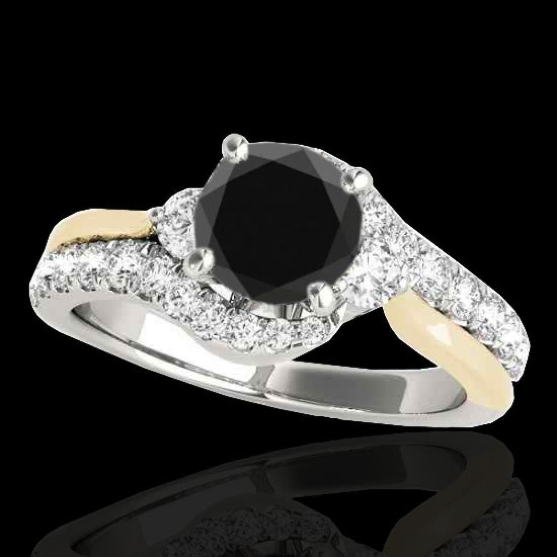 1.6 CTW Certified VS Black Diamond Bypass Solitaire