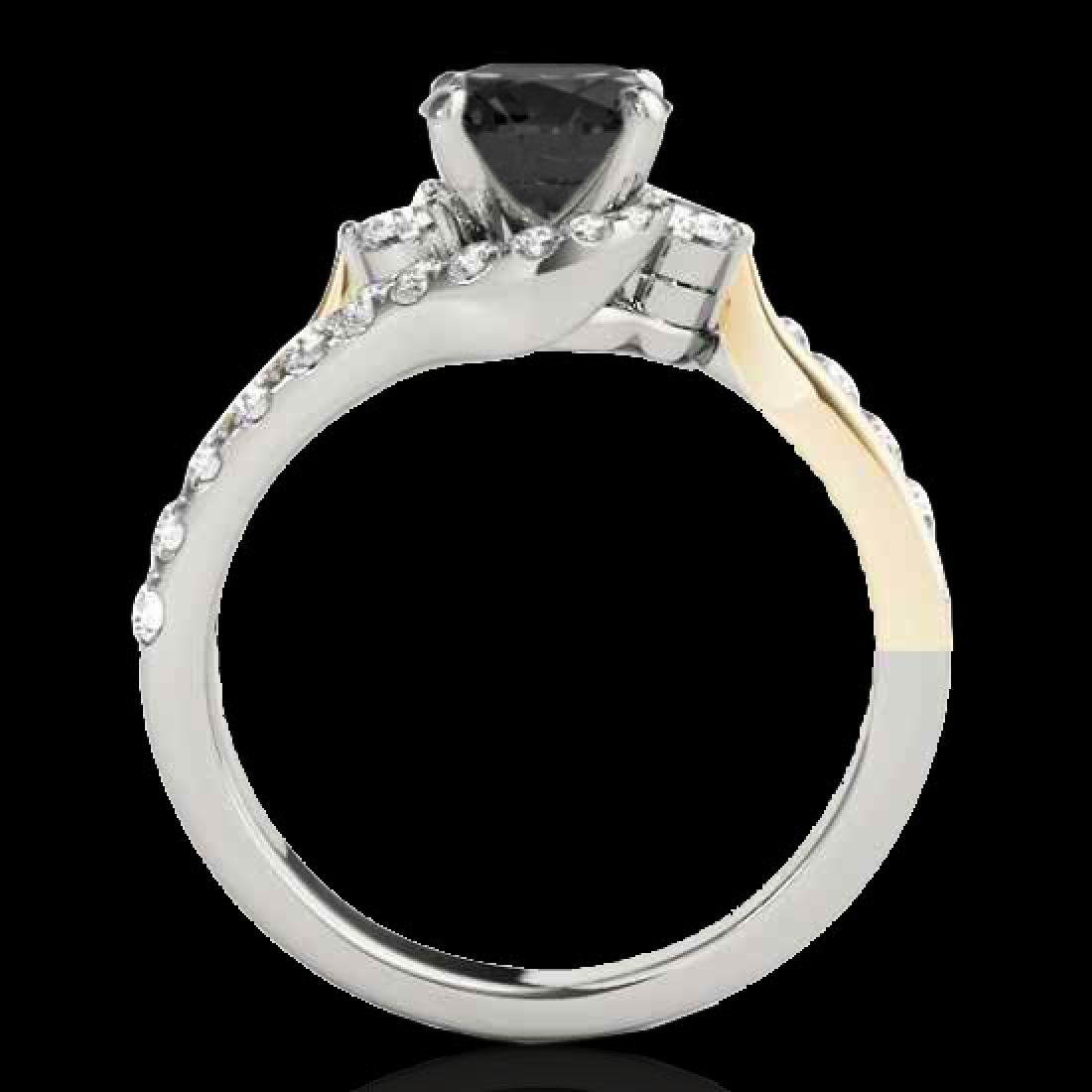 1.6 CTW Certified VS Black Diamond Bypass Solitaire - 2