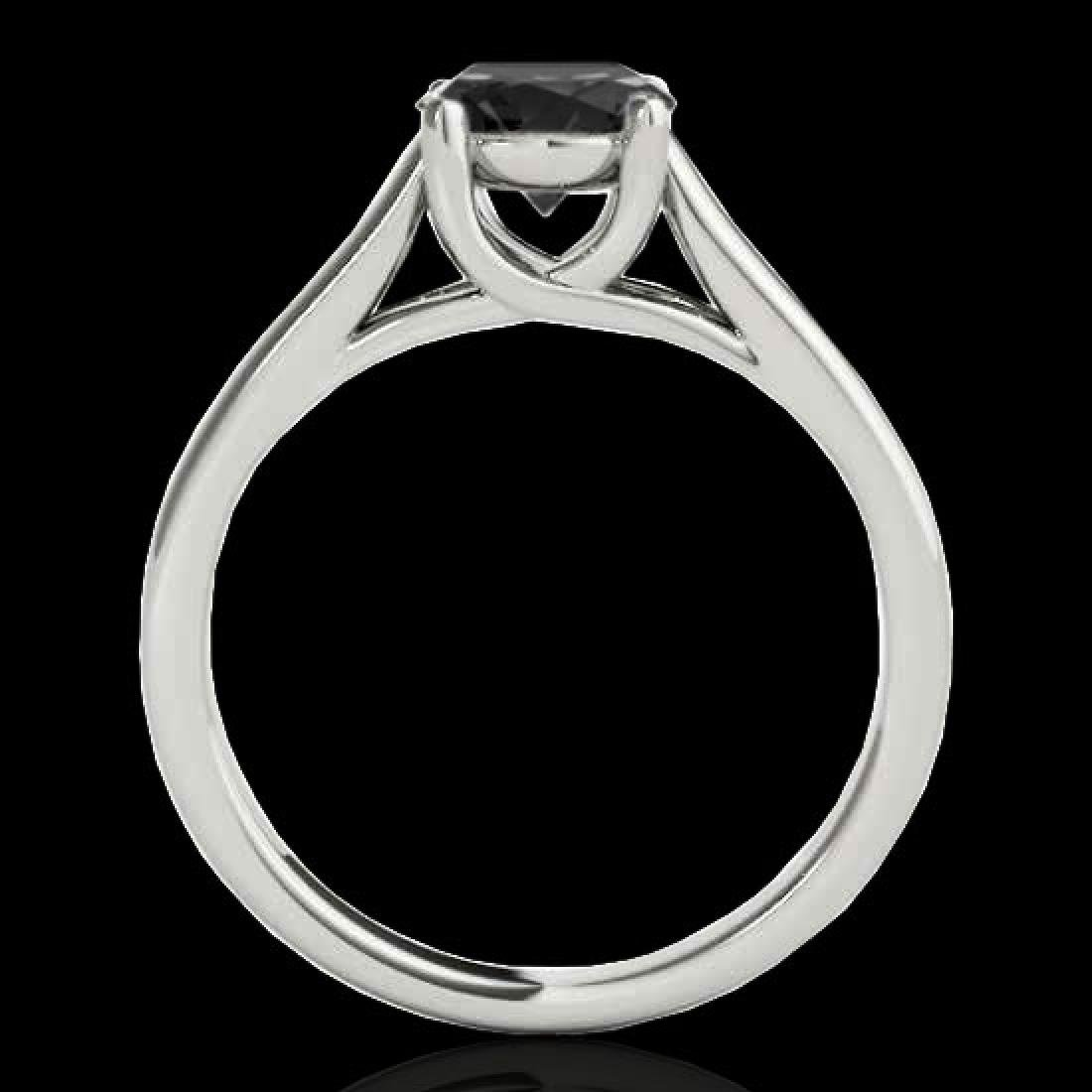 1 CTW Certified VS Black Diamond Solitaire Ring 10K - 2