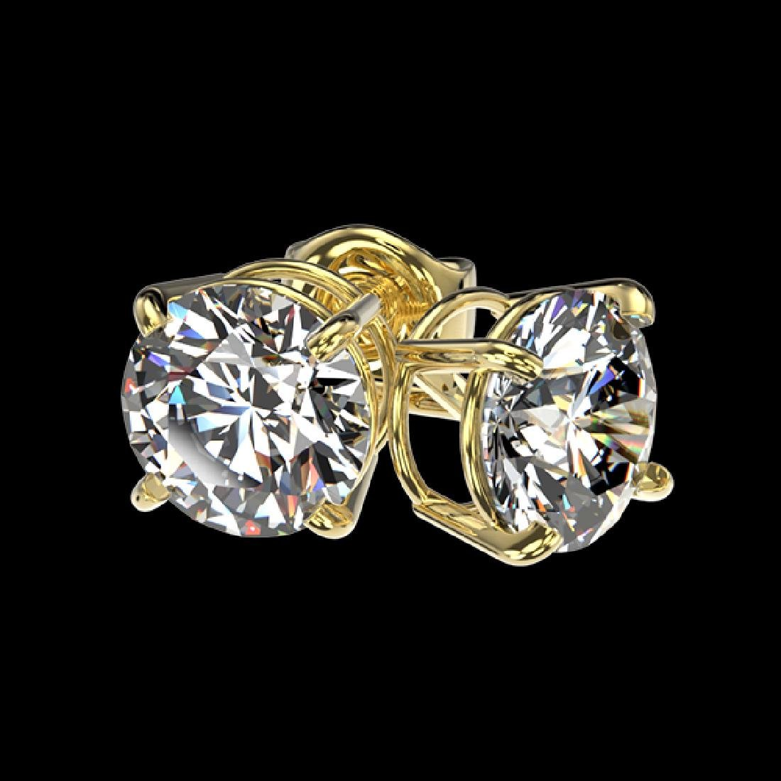 1.59 CTW Certified H-SI/I Quality Diamond Solitaire - 3