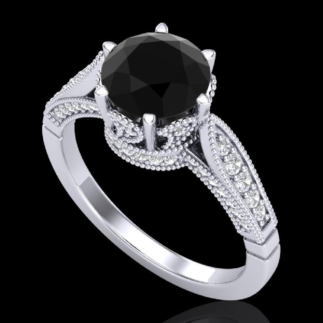 2.2 CTW Fancy Black Diamond Solitaire Engagement Art