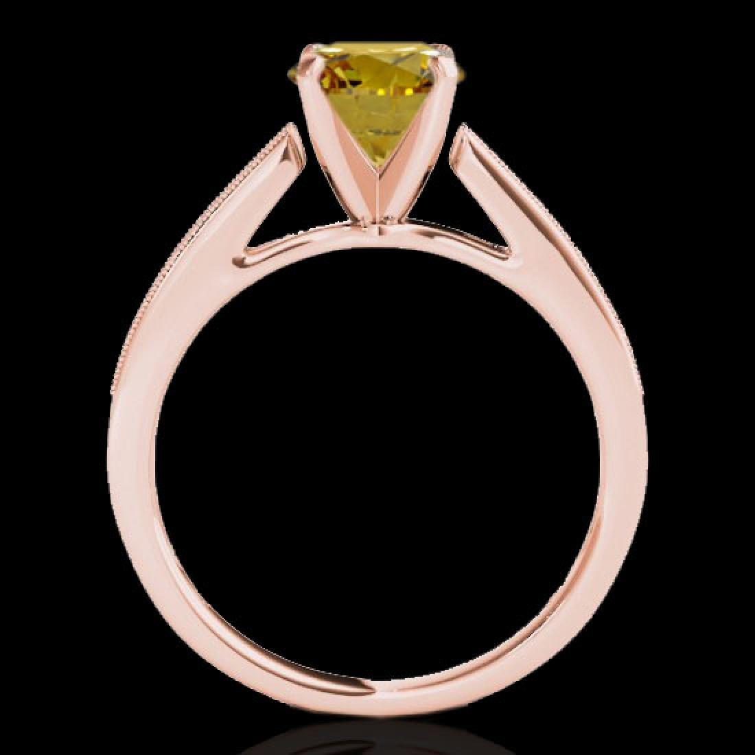 1.25 CTW Certified SI/I Fancy Intense Yellow Diamond - 2