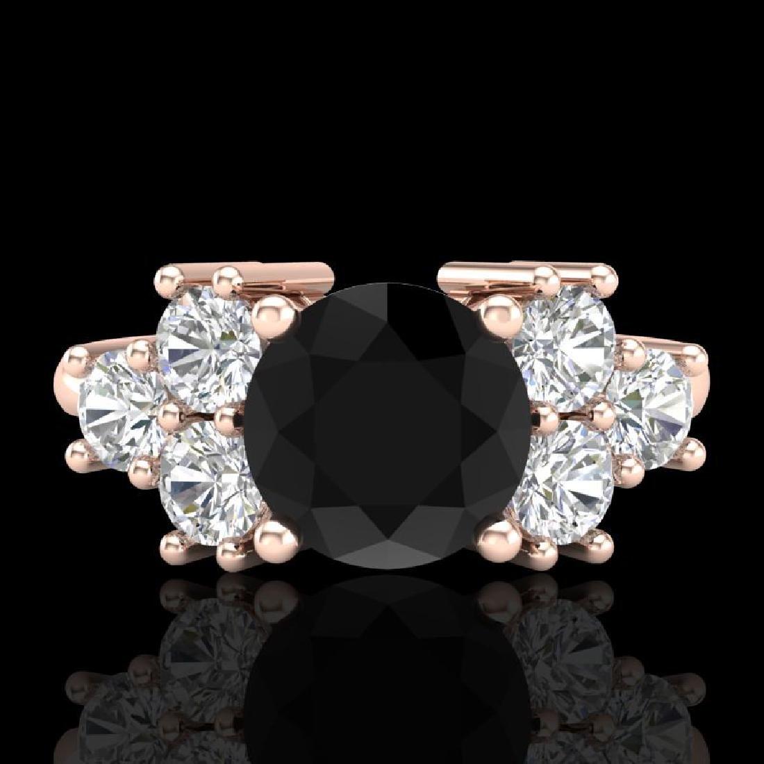 2.1 CTW Fancy Black Diamond Solitaire Engagement - 2