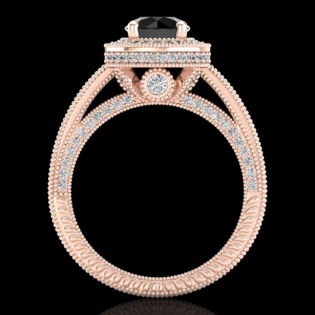 2.8 CTW Fancy Black Diamond Solitaire Engagement Art - 3