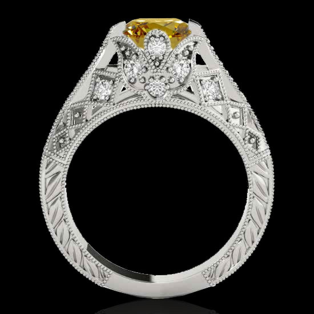 1.25 CTW Certified Si Intense Yellow Diamond Solitaire - 2