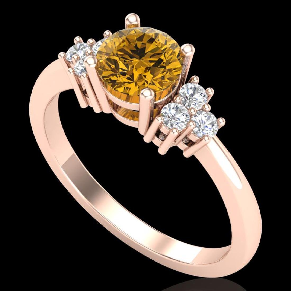 1 CTW Intense Fancy Yellow Diamond Engagement Classic