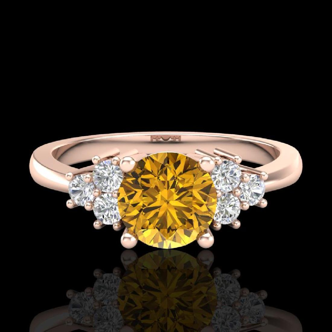 1 CTW Intense Fancy Yellow Diamond Engagement Classic - 2