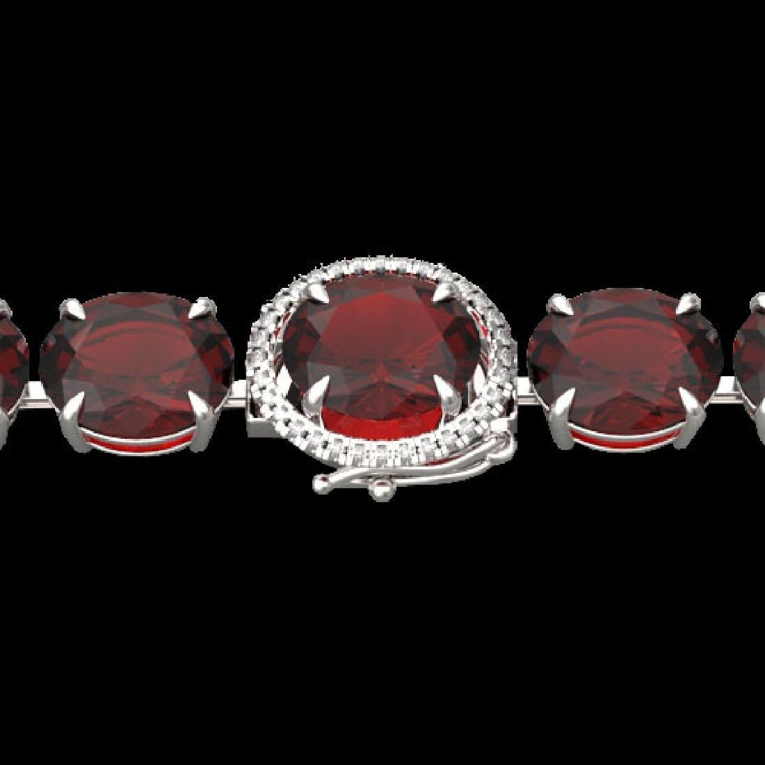 65 CTW Garnet & Micro Pave VS/SI Diamond Halo Designer