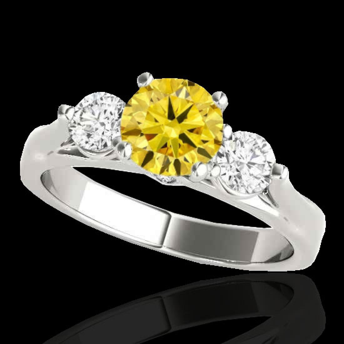 1.5 CTW Certified SI/I Fancy Intense Yellow Diamond 3