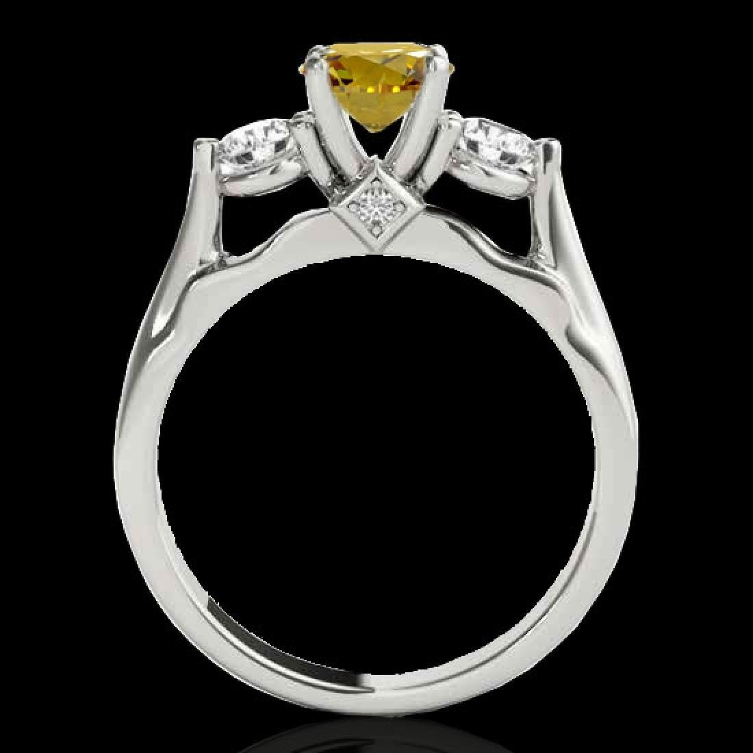 1.5 CTW Certified SI/I Fancy Intense Yellow Diamond 3 - 2