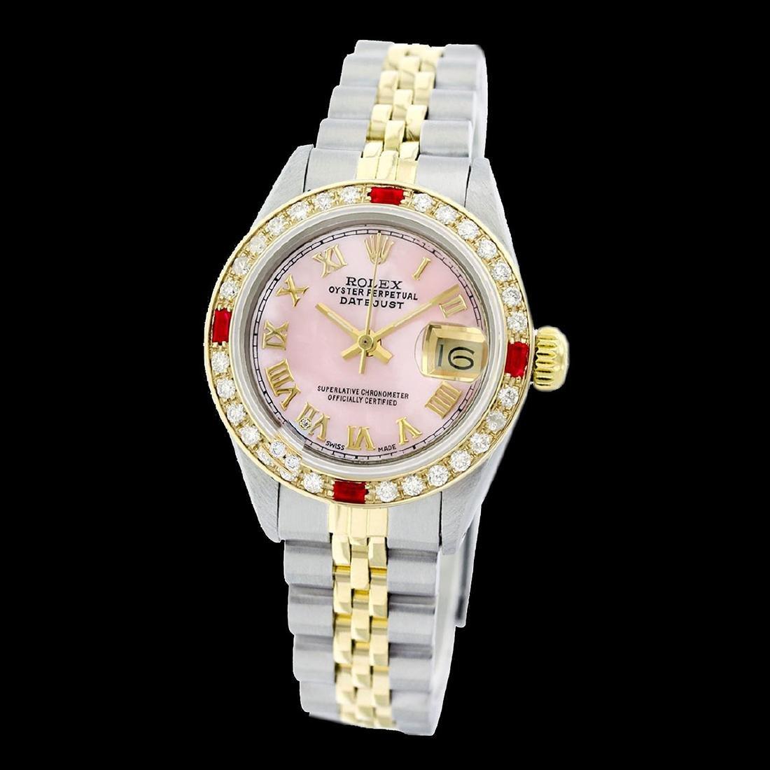 Rolex Men's Two Tone 14K Gold/SS, QuickSet, Roman Dial - 2
