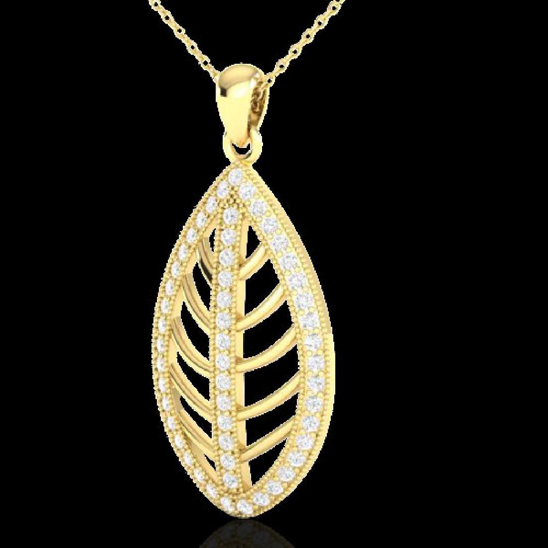 1 CTW Micro Pave VS/SI Diamond Designer Necklace 18K - 2