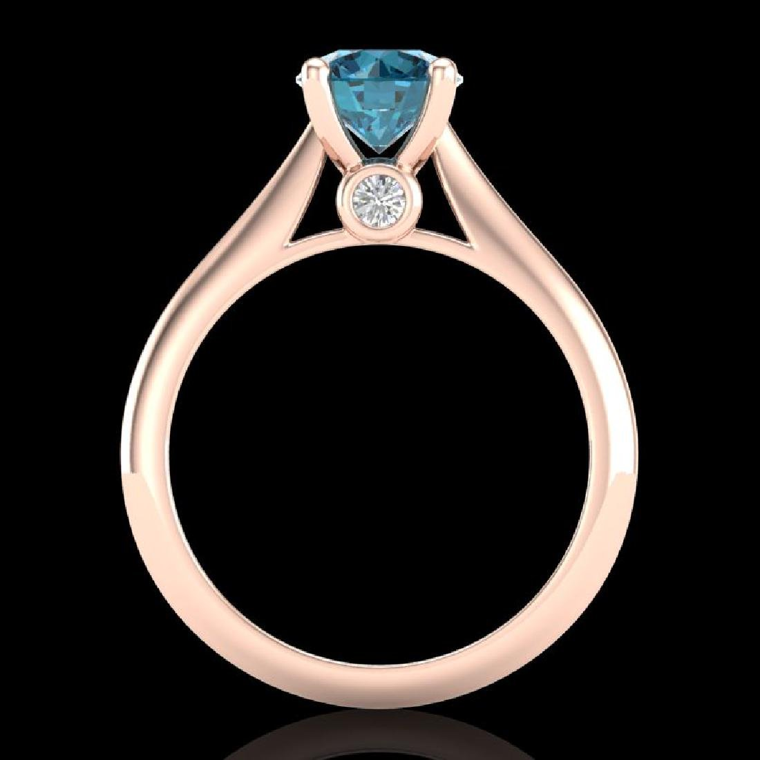 1.36 CTW Fancy Intense Blue Diamond Solitaire Art Deco - 3