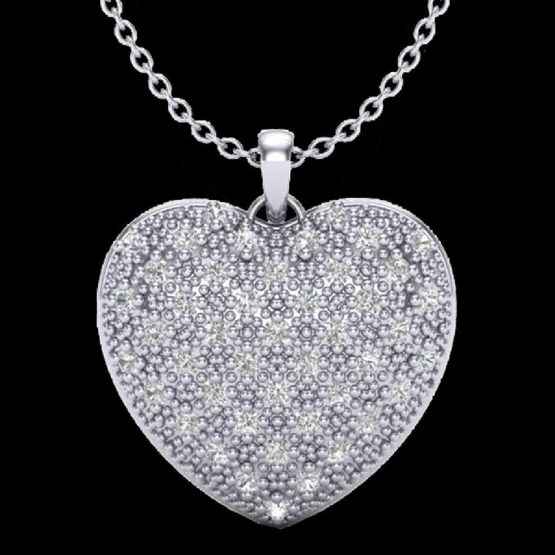 1.0 Designer CTW Micro Pave VS/SI Diamond Heart