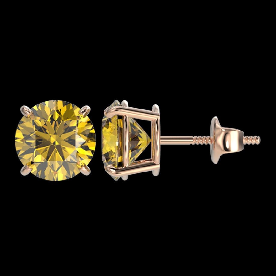 2.57 CTW Certified Intense Yellow SI Diamond Solitaire - 2
