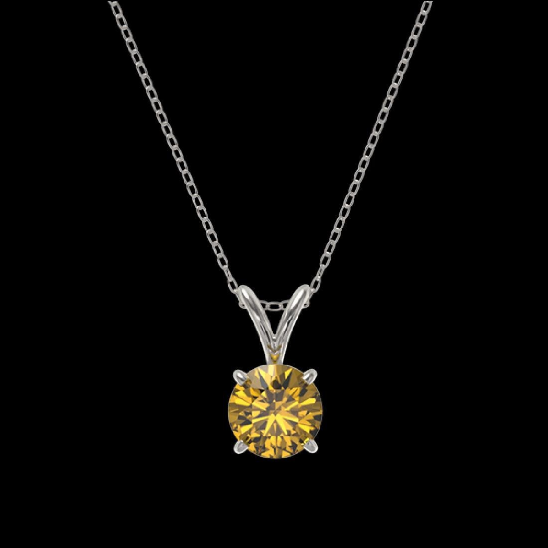 0.73 CTW Certified Intense Yellow SI Diamond Solitaire - 3