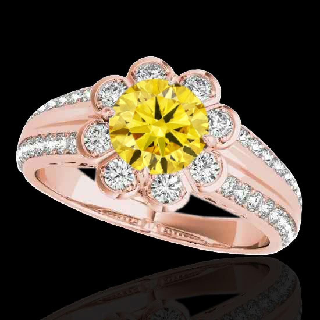 2.05 CTW Certified SI/I Fancy Intense Yellow Diamond