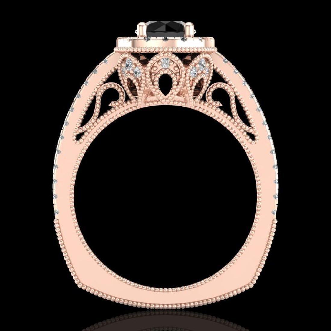 1.55 CTW Fancy Black Diamond Solitaire Engagement Art - 3