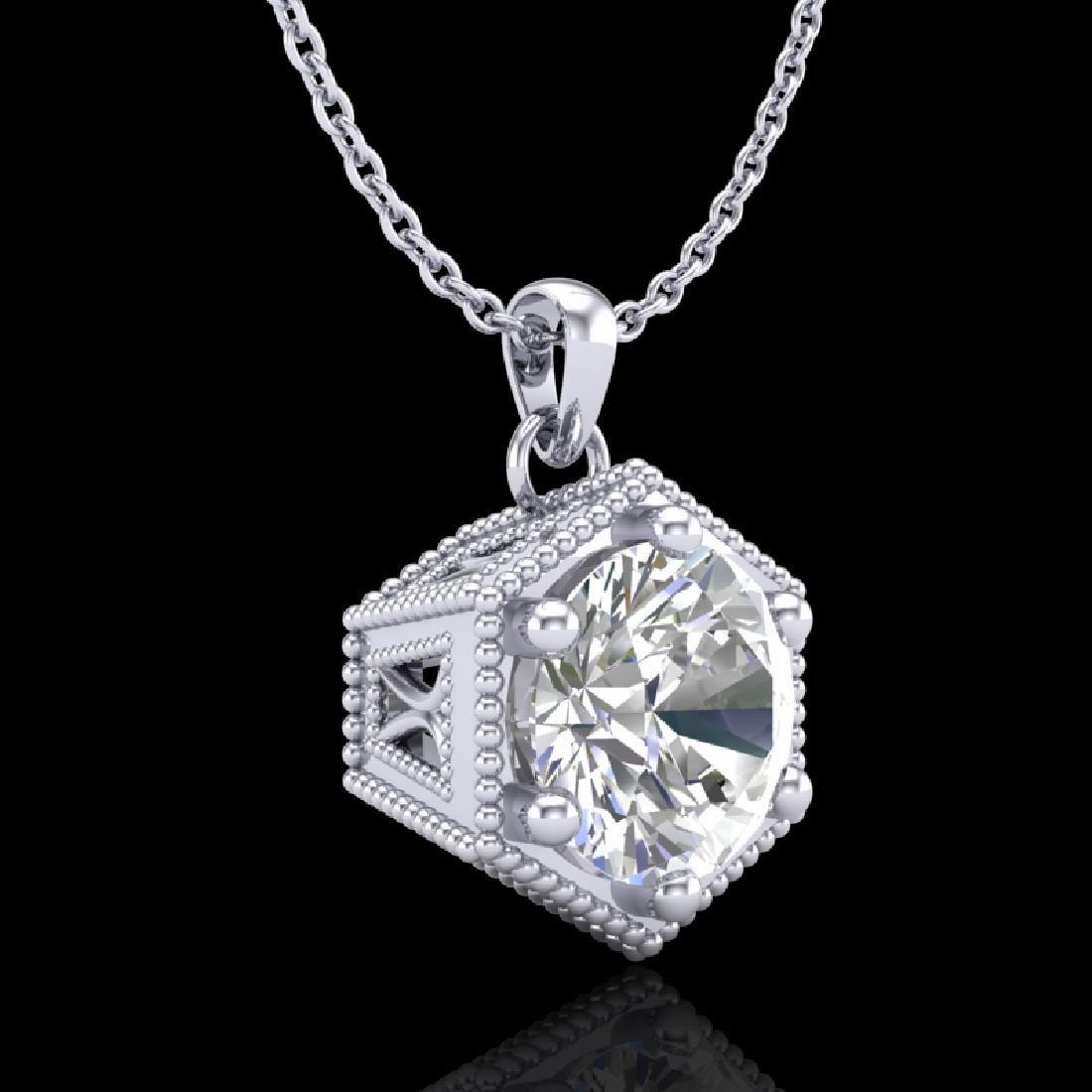 0.82 CTW VS/SI Diamond Solitaire Art Deco Stud Necklace - 3