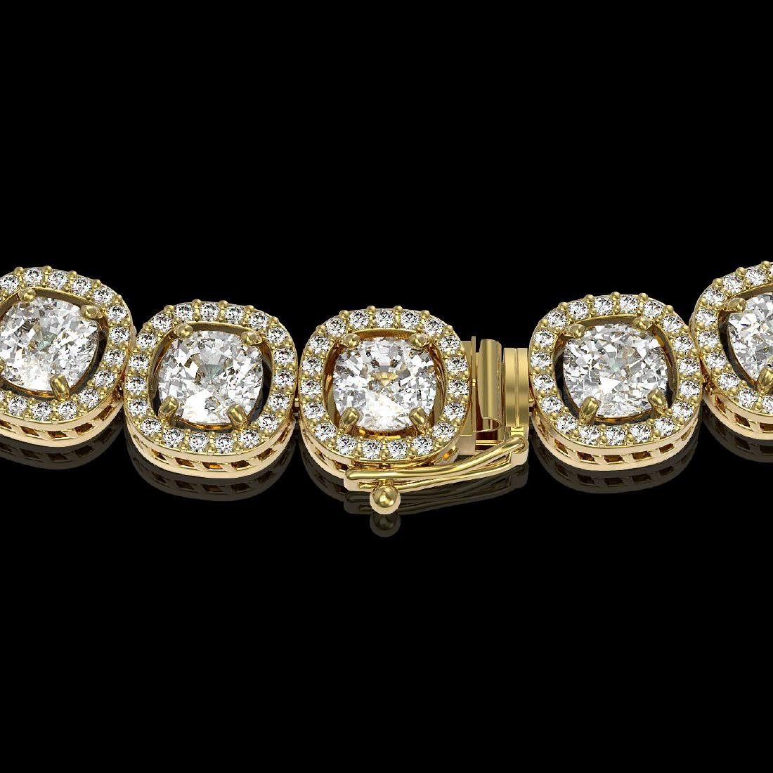 32.64 CTW Cushion Diamond Designer Necklace 18K Yellow - 3