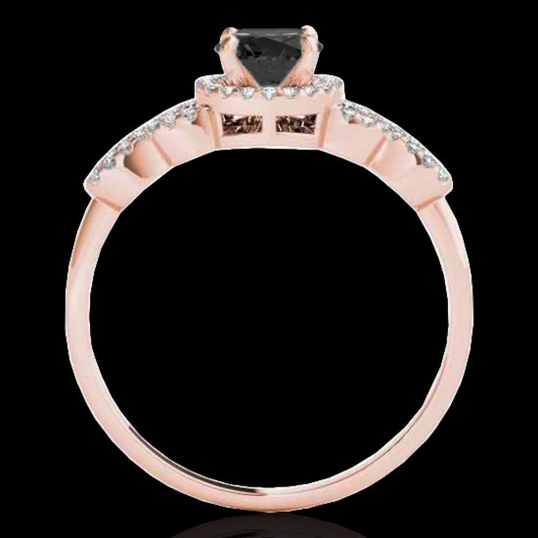 1.33 CTW Certified VS Black Diamond Solitaire Ring 10K - 2