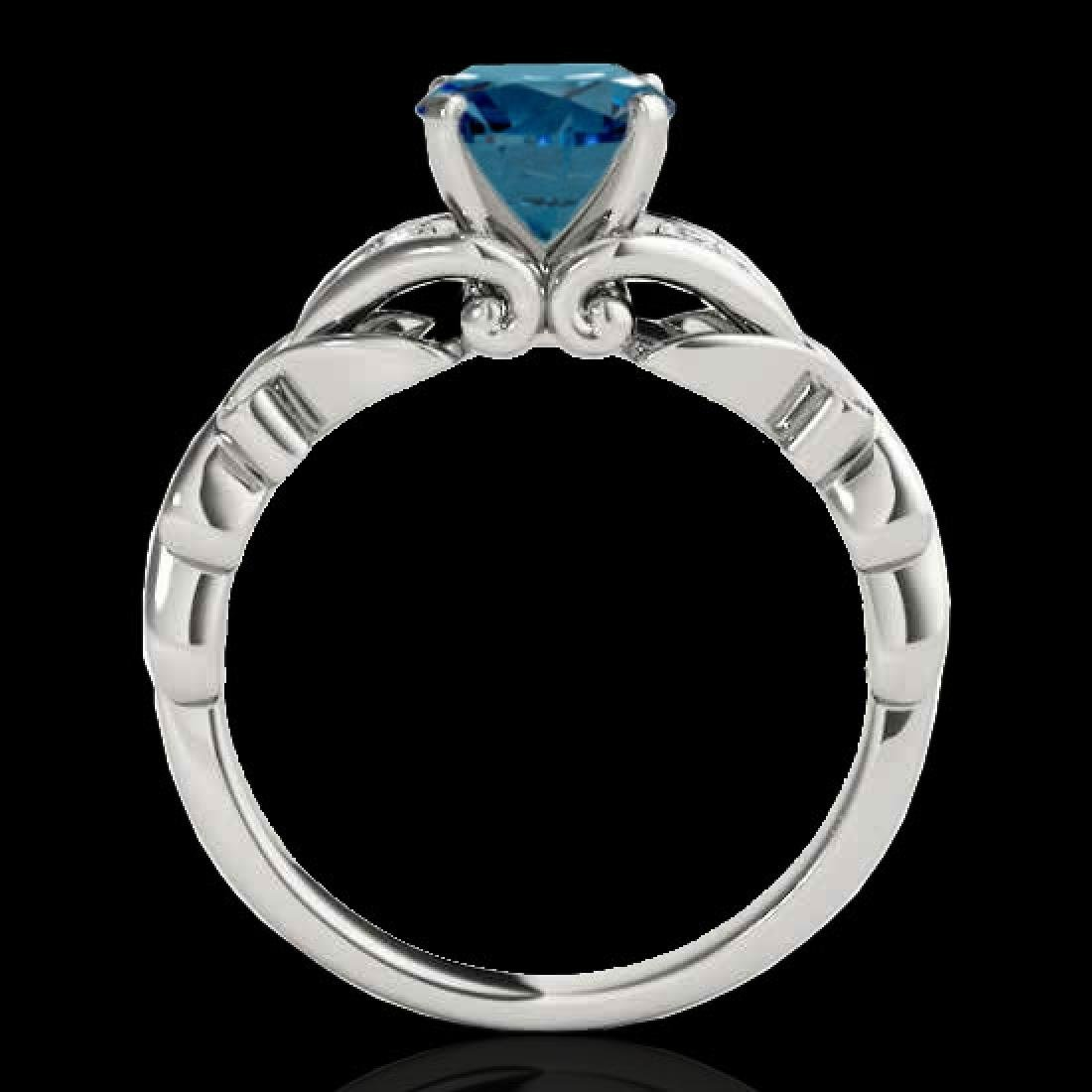 1.1 CTW SI Certified Fancy Blue Diamond Solitaire Ring - 2