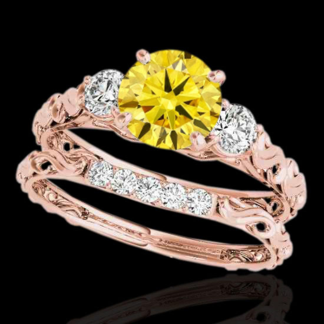 1.35 CTW Certified SI/I Fancy Intense Yellow Diamond 3