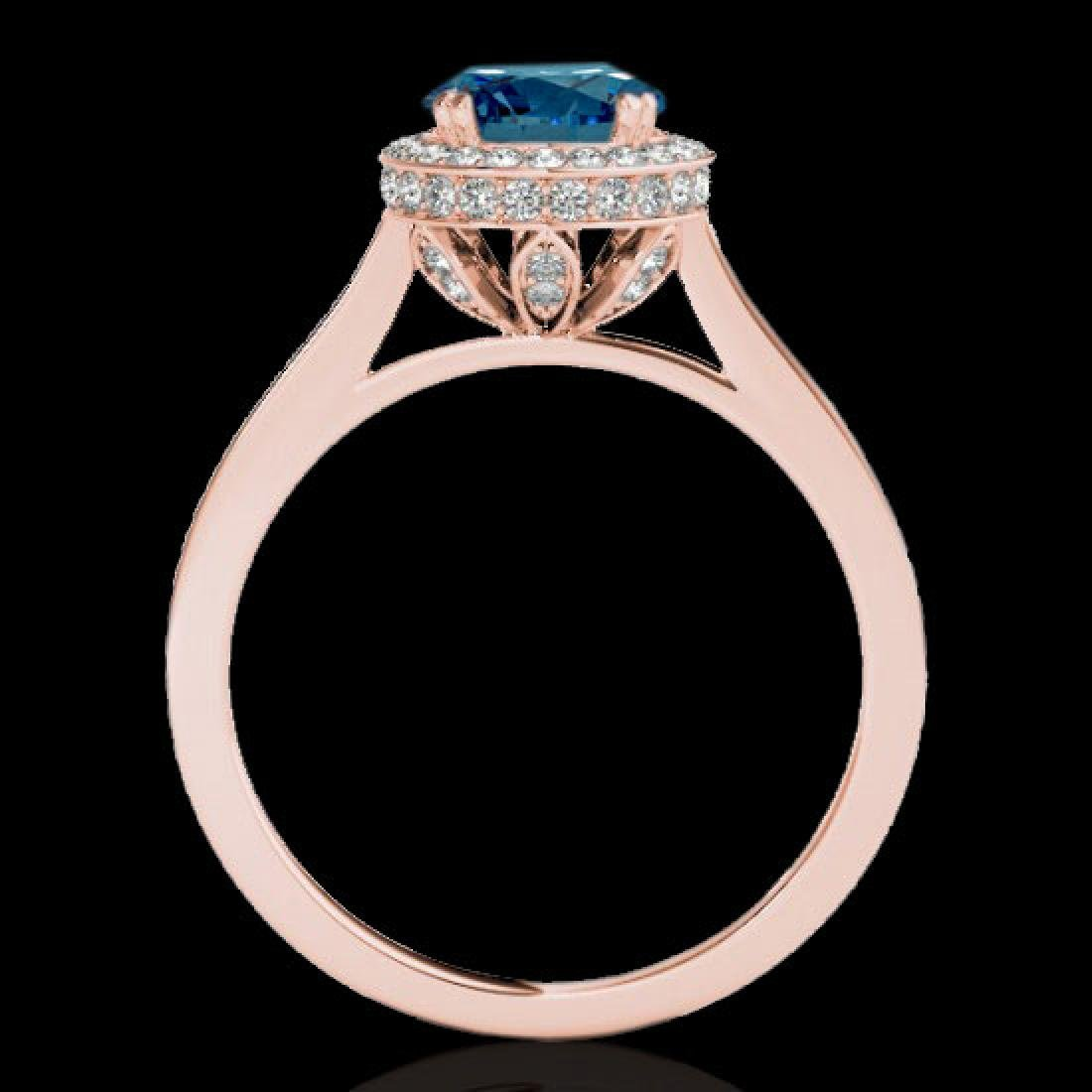 2.03 CTW SI Certified Fancy Blue Diamond Solitaire Halo - 2