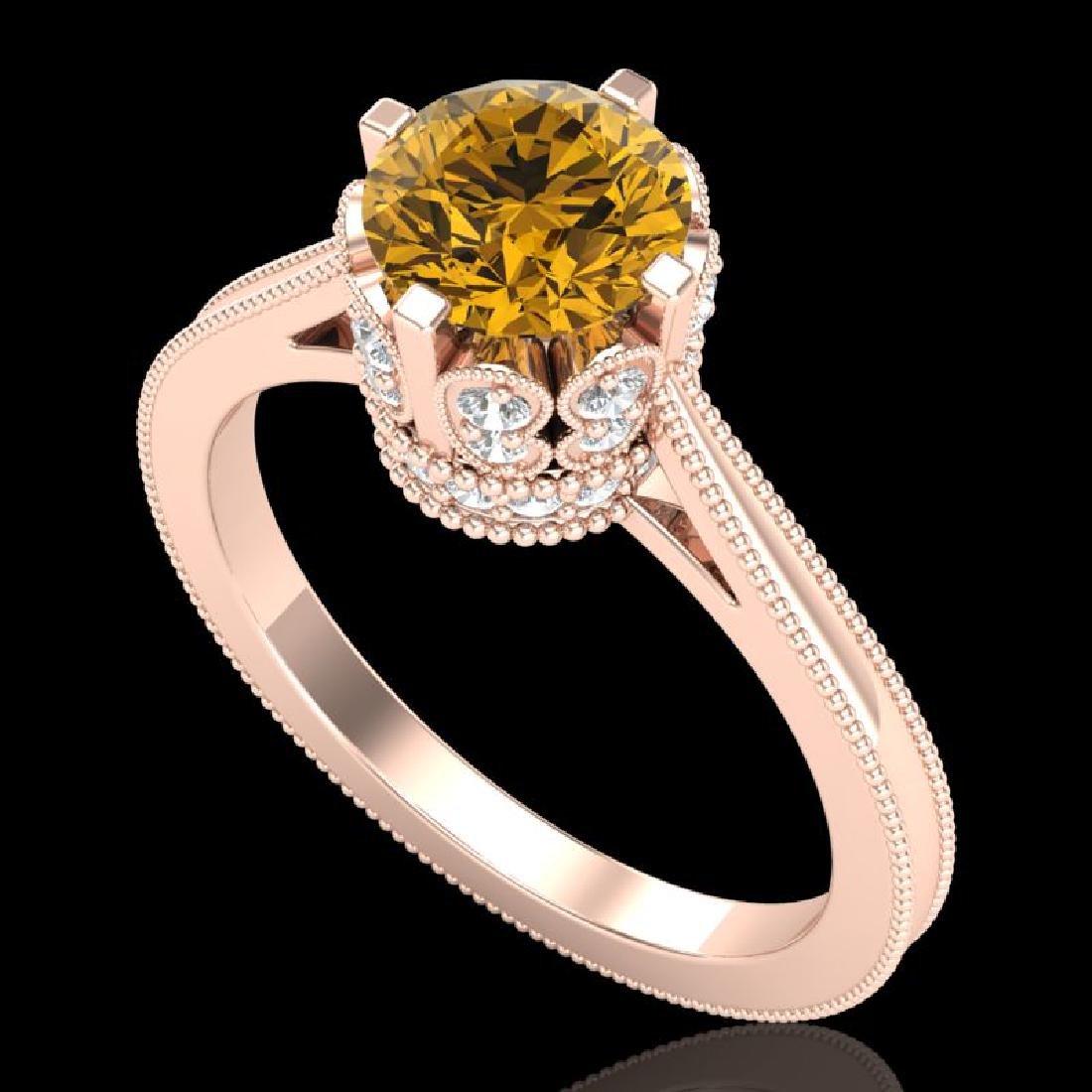 1.5 CTW Intense Fancy Yellow Diamond Engagement Art