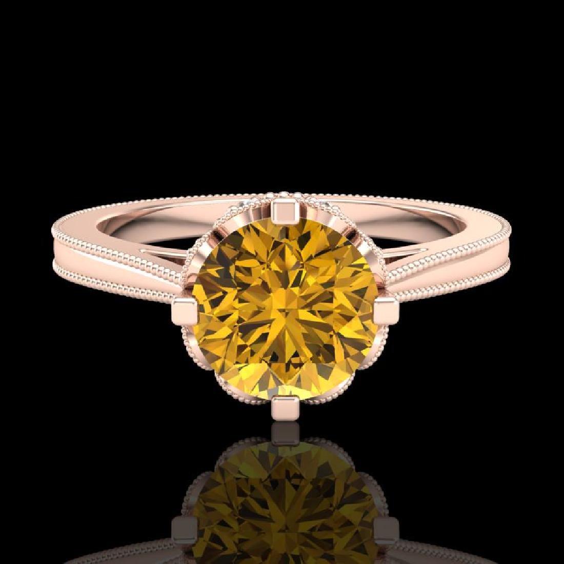 1.5 CTW Intense Fancy Yellow Diamond Engagement Art - 2
