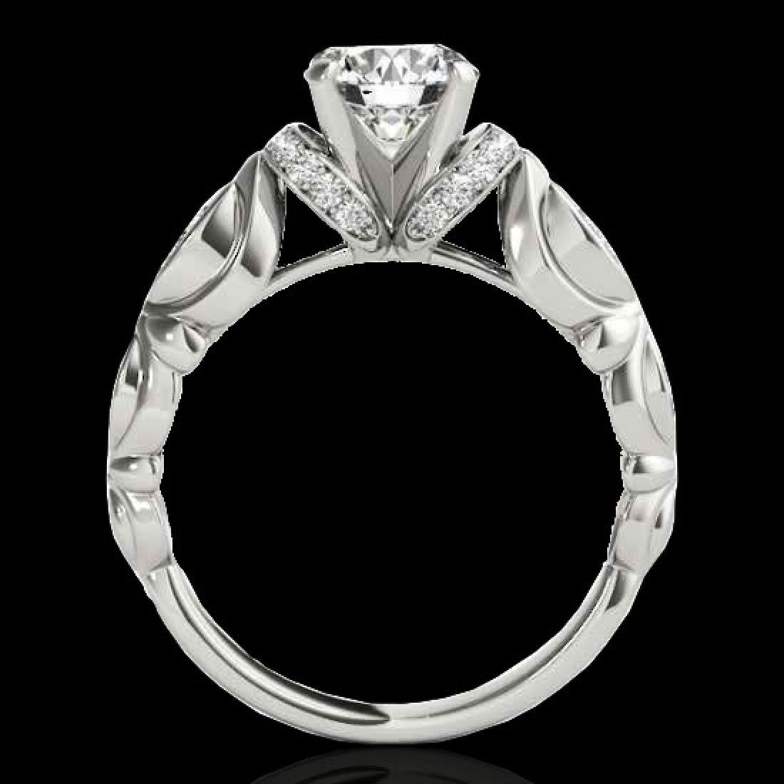 1.2 CTW H-SI/I Certified Diamond Solitaire Antique Ring - 2