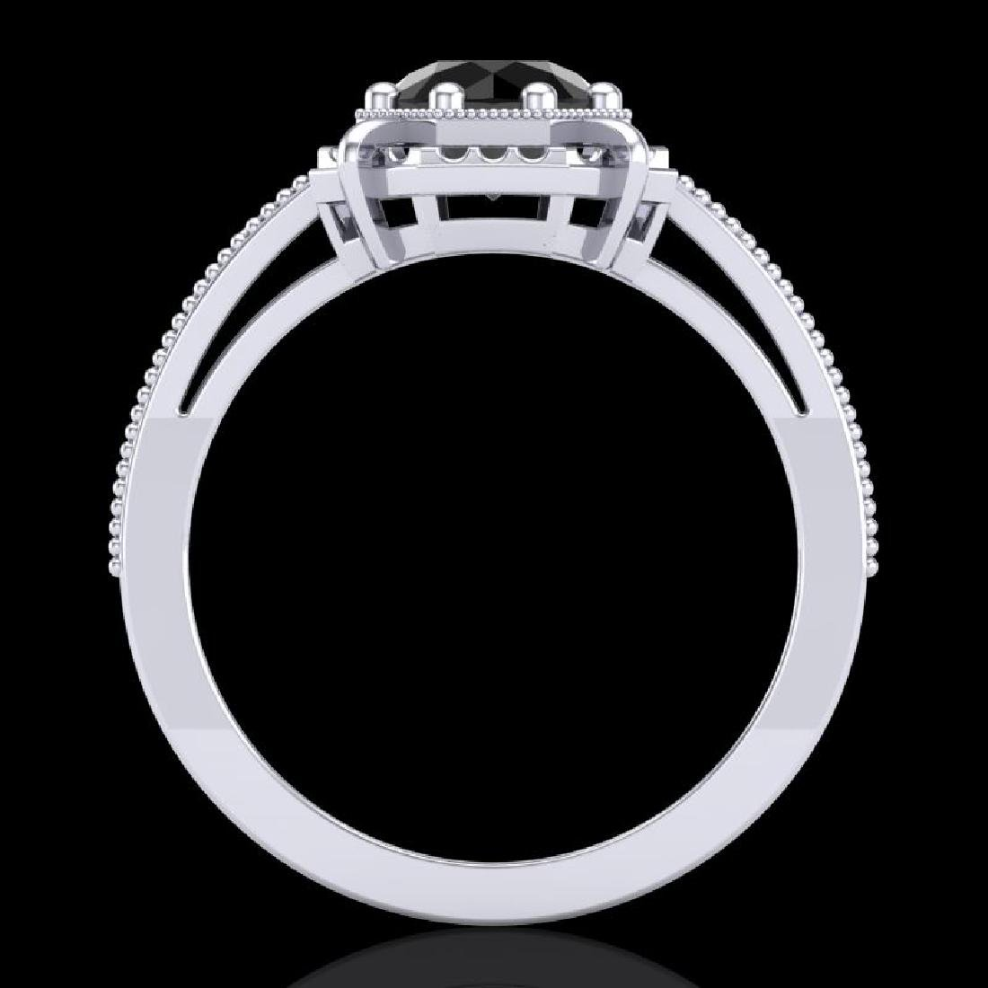 1 CTW Fancy Black Diamond Solitaire Engagement Art Deco - 3