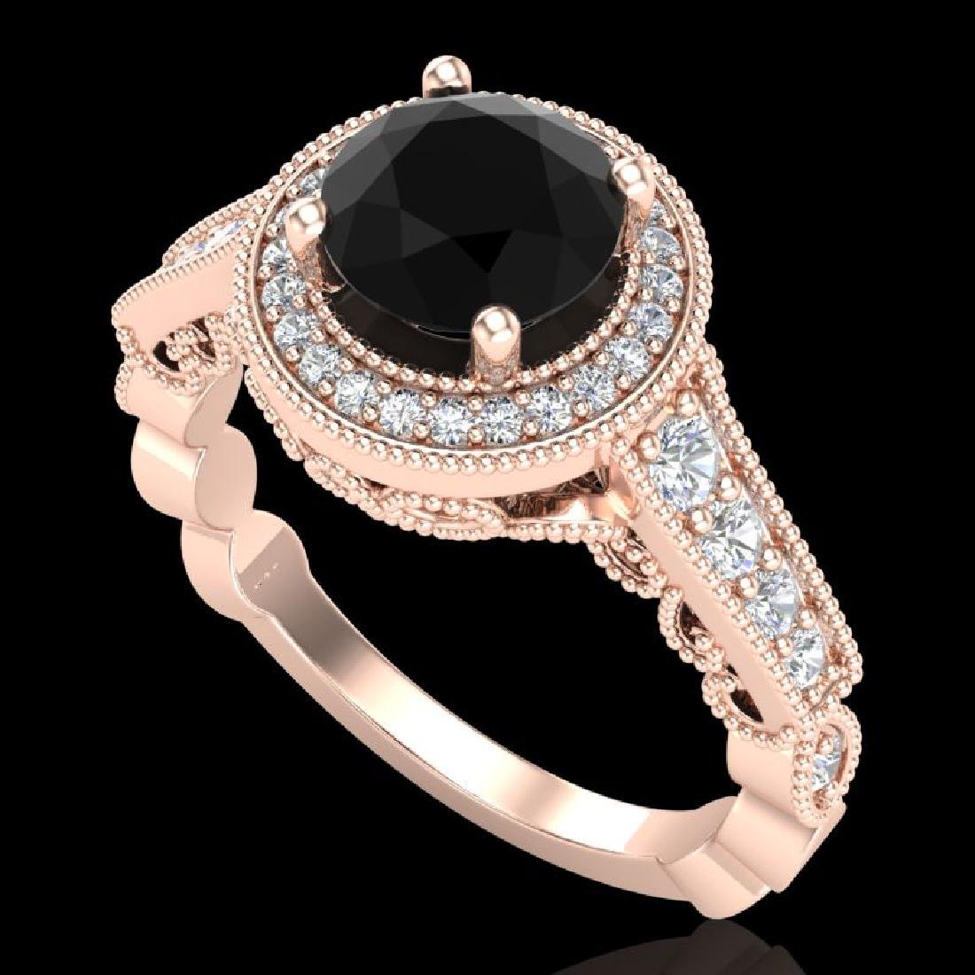 1.91 CTW Fancy Black Diamond Solitaire Engagement Art