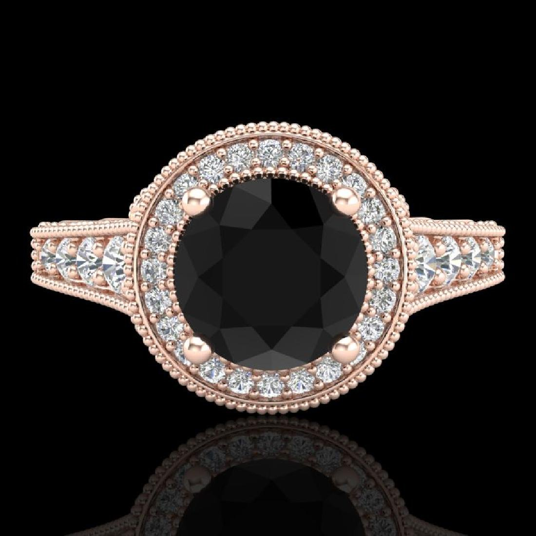 1.91 CTW Fancy Black Diamond Solitaire Engagement Art - 2
