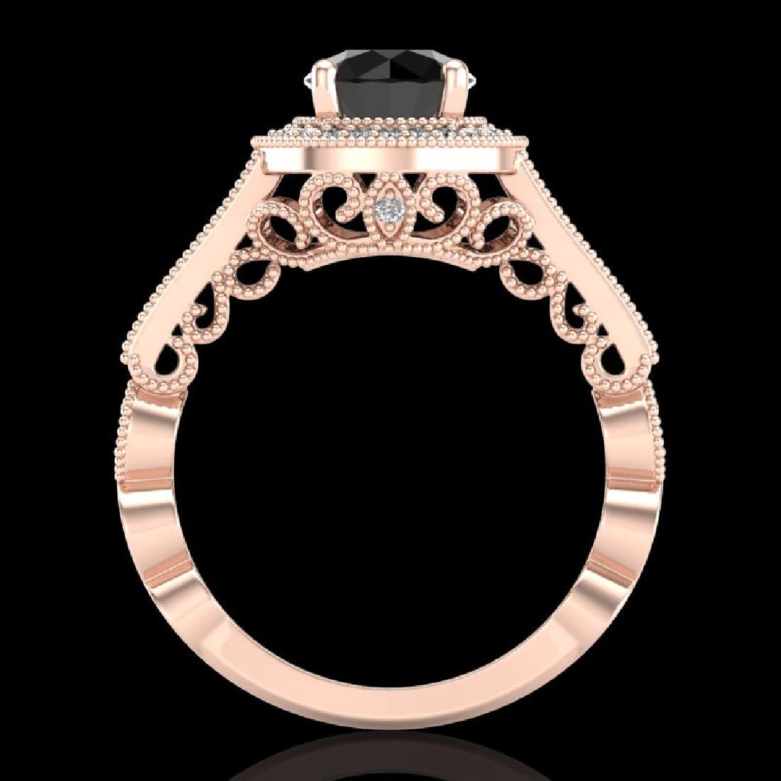 1.91 CTW Fancy Black Diamond Solitaire Engagement Art - 3