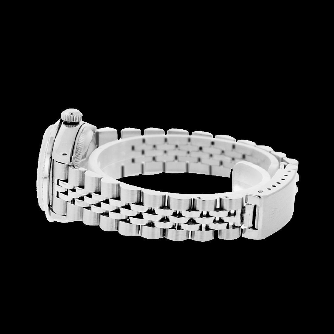 Rolex Ladies Stainless Steel, Diam Dial & Diam/Sapphire - 4