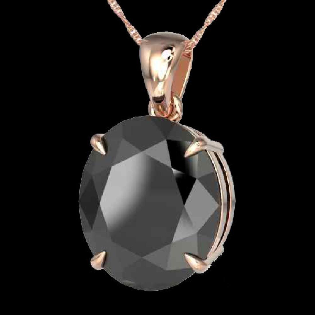 9 CTW Black VS/SI Diamond Designer Solitaire Necklace